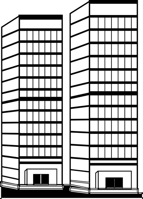 Office View office building clipart black and white png clip art library