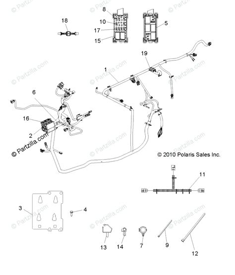 Polaris Side By Side 2012 Oem Parts Diagram For Electrical