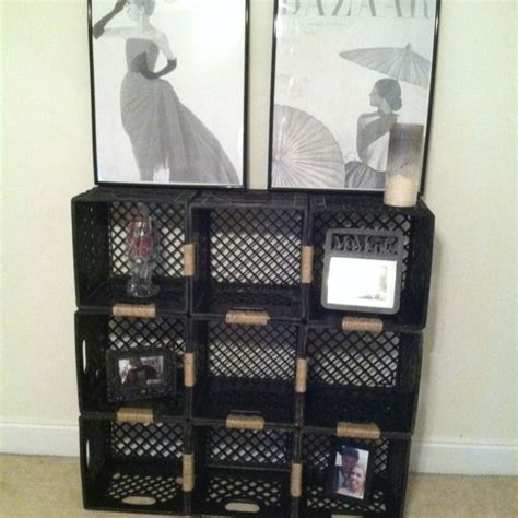 17 best ideas about milk crate shelves on wood