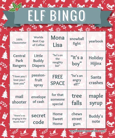 elf movie bingo