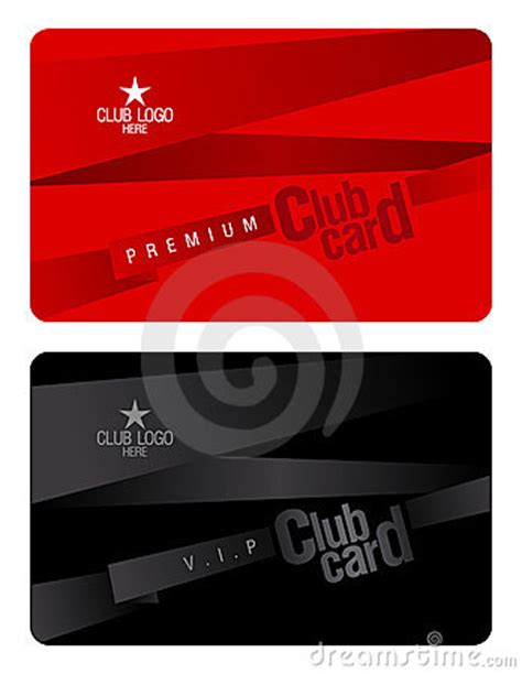 club card template club card design template royalty free stock images
