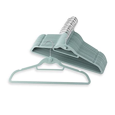 hangers bed bath and beyond real simple slimline hangers with built in hooks set of