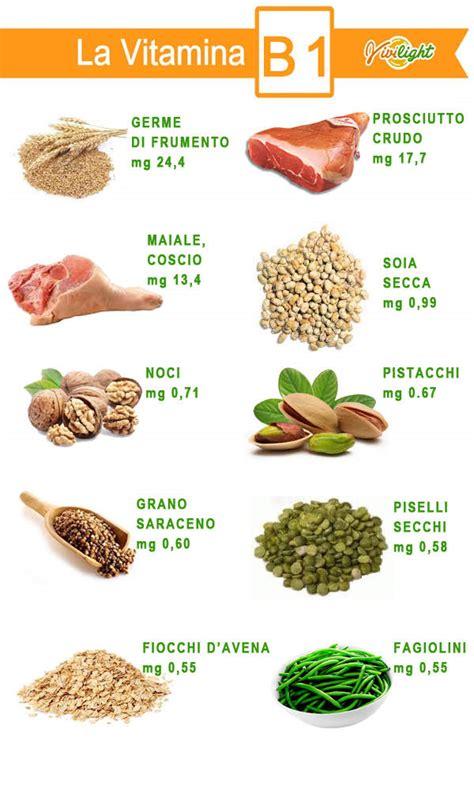 alimenti contengono vitamina b1 vivilight vitamina b1 tutte le sue propriet 224 e gli