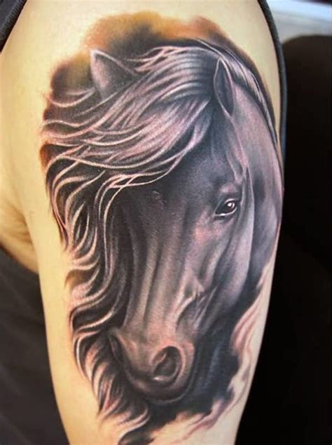 horse head tattoo ideas and designs