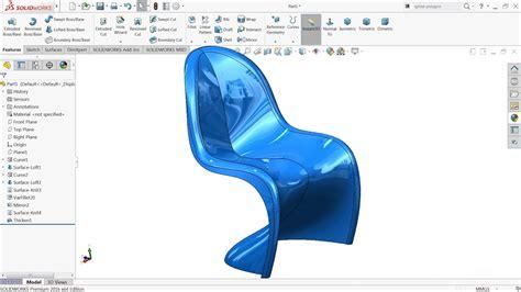 solidworks tutorial chair solidworks tutorial sketch panton chair advanced