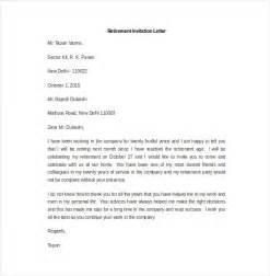 Sle Retirement Letter by Invitation Letter For Retirement In Wedding Invitation Ideas