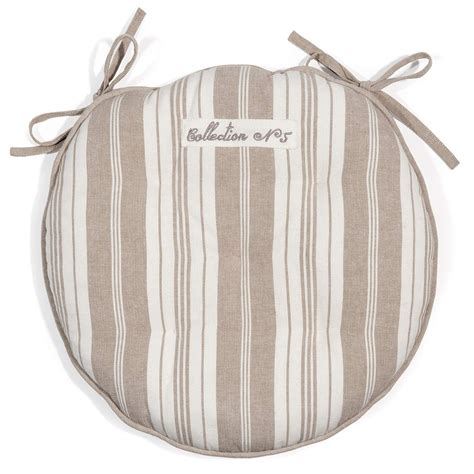 galette de chaise maison du monde galette de chaise 224 rayures en coton beige f 201 licit 201