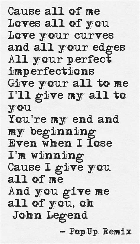 printable lyrics john legend all of me 25 best ideas about all of me on pinterest love song