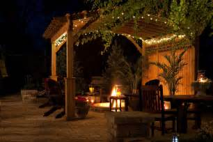 Outside Patio Lights Riviera Wood Pergola Ohio Hardwood Furniture