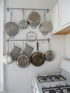 Hanging Pots On Wall Kitchen Kitchen Ideas For Hanging Pots And Pans 4 Diy