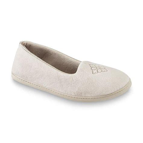 sears slippers for dearfoams s pewter closed back slipper