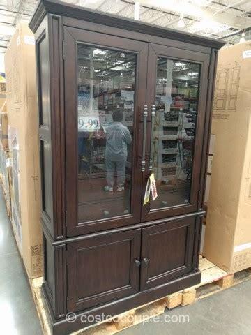 bayside furnishings glass door bookcase