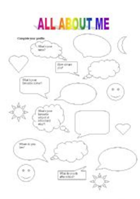 worksheet on myself for kindergarten free printable