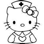 hello kitty nurse coloring pages hello kitty sassystickers com custom vinyl cut sassy