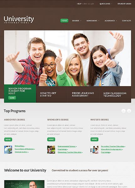 university website templates university website template 40650
