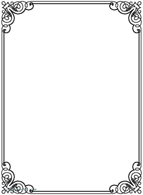 Microsoft Borders And Frames Templates Certificate Borders Letter Border Template