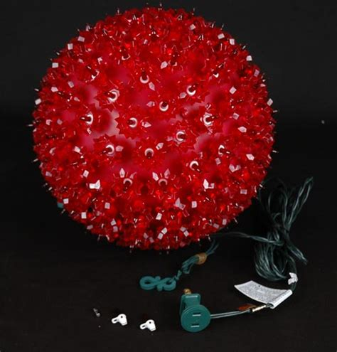 red 10 quot starlight sphere 150 light christmas ball