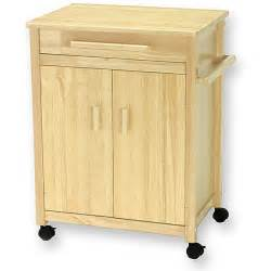 solid wood kitchen cart with door cabinet