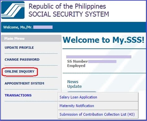 Inquiry Letter In The Philippines sss number application requirements philippines