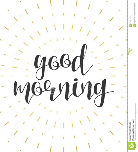 good morning calligraphy phrase quote calligraphy lettering cartoon vector cartoondealer