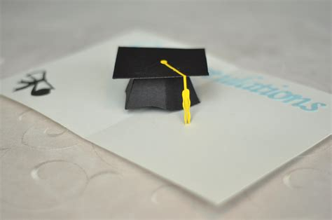graduation pop up card 3d cap creative pop up cards