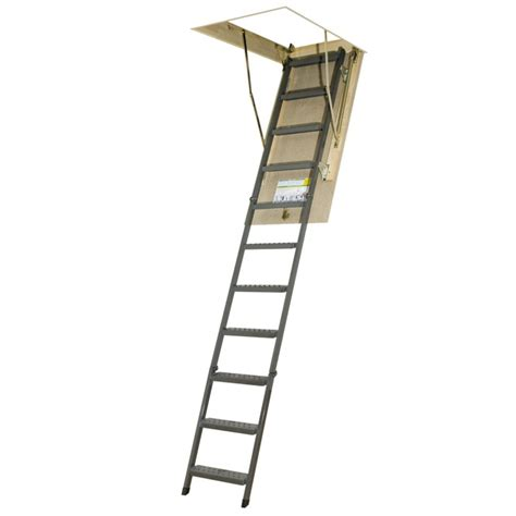 fakro attic ladder metal basic owm 25x54 300 lbs 10 ft 1