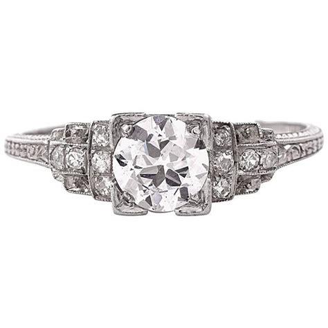 antique deco platinum engagement ring for sale