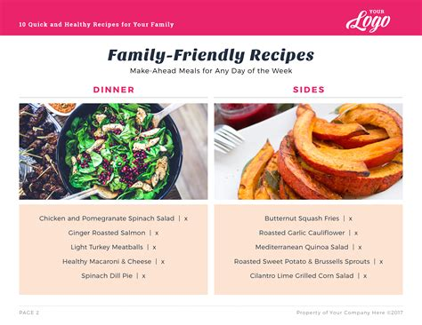 recipe card template indesign indesign template meal planning recipe card