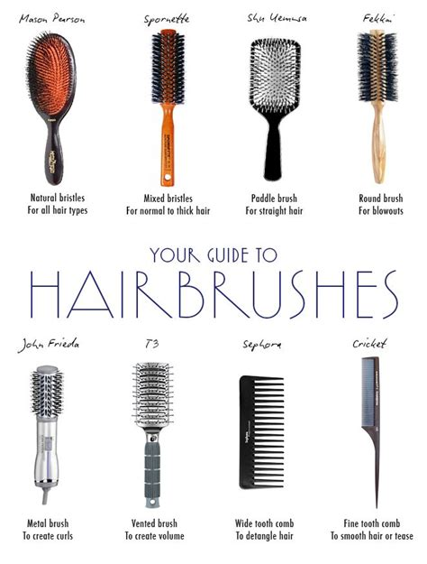 Types Of Hair Combs And Their Uses by The Best Brushes For Every Hair Type Different Types Of