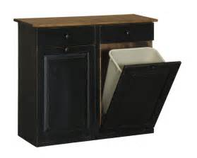 Kitchen Garbage Cabinet by Double Trash Bin Cabinet With Drawers Peaceful Valley