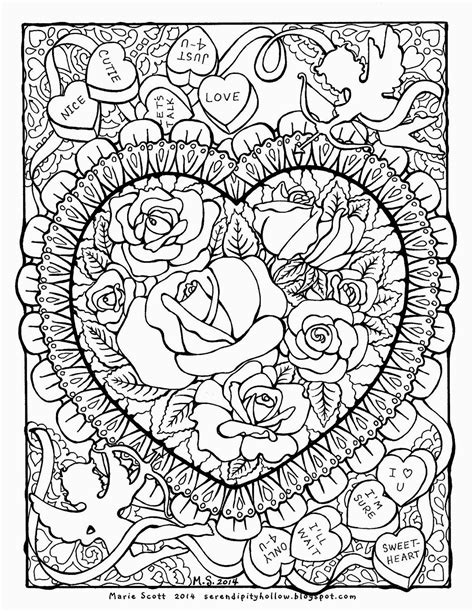 Free Hearts And Roses Coloring Pages Hearts And Roses Coloring Pages