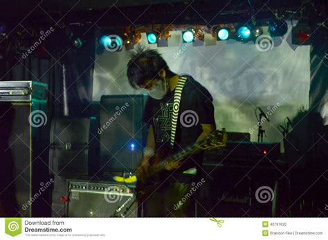 noise rock guitarist from melt banana editorial image image 40791620