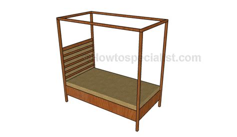 canopy bed plans canopy bed plans howtospecialist how to build step by