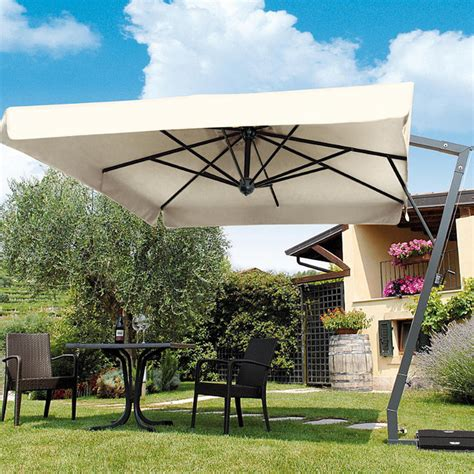 Frontgate Patio Umbrellas Side Arm Patio Umbrella With Base Traditional Outdoor