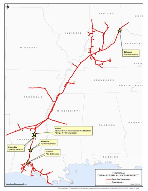 texas eastern pipeline map texas gas overview