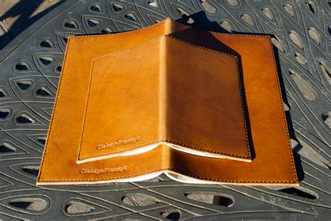 Cover For Leather by Leather Cover For Moleskine Cahier Notebook Horween Leather