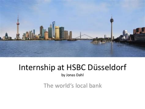 bank düsseldorf internship at hsbc d sseldorf