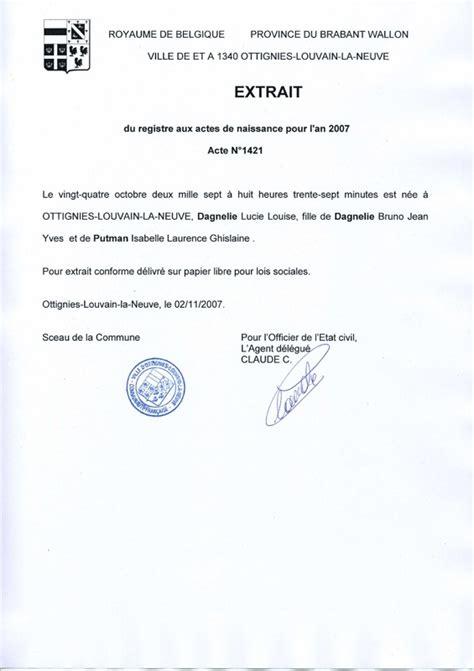 Modèle De Lettre Demande Extrait Kbis demande d acte de naissance integrale en ligne