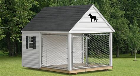 amish built dog houses image gallery kennels