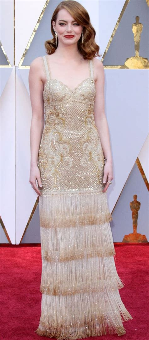emma stone givenchy emma stone wins best actress at oscars in givenchy dress