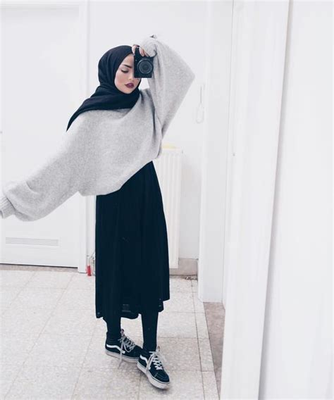 Baju Hijabers Trendi Amiya Top Black 15 trend gaya fashion remaja masa kini