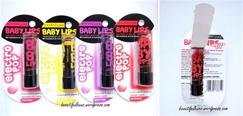 Maybelline Baby Pop Electro review maybelline baby electro pop lip balm