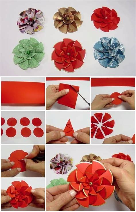 How To Make An Easy Flower Out Of Paper - diy paper flower step by step tutorials k4 craft