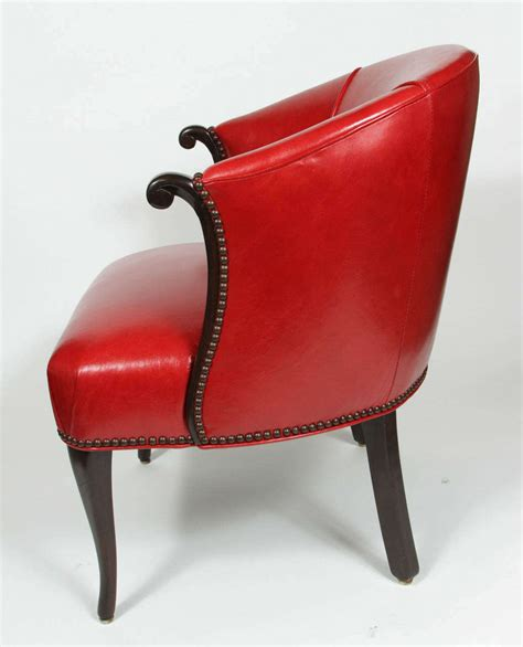 Leather Barrel Chair by Leather Barrel Chair At 1stdibs
