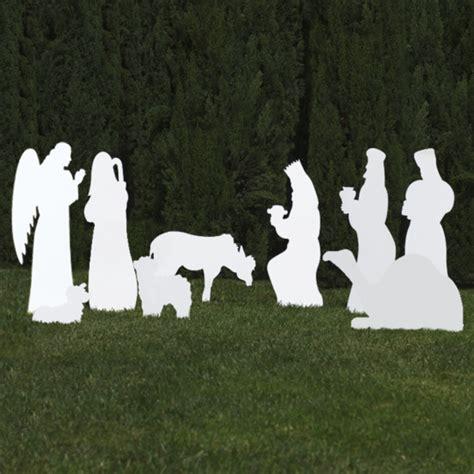 silhouette outdoor nativity set 9 piece add on scene