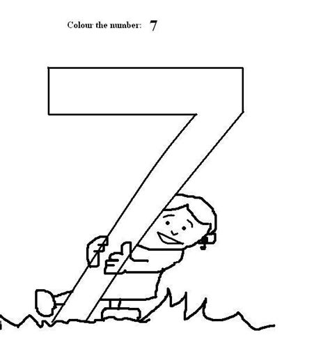 Number 7 Coloring Pages For Preschoolers by Number 7 Coloring Printable Page For