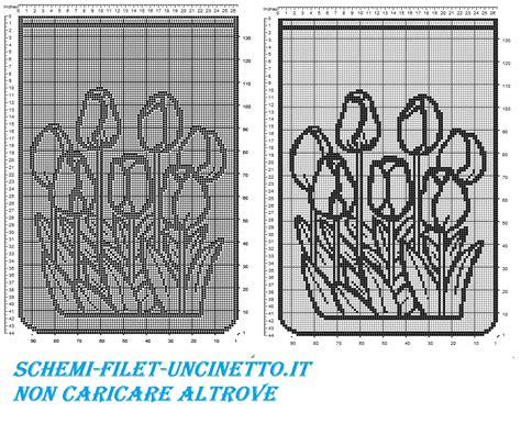 schemi tende filet gratis tenda tulipani filet uncinetto schema gratis schemi