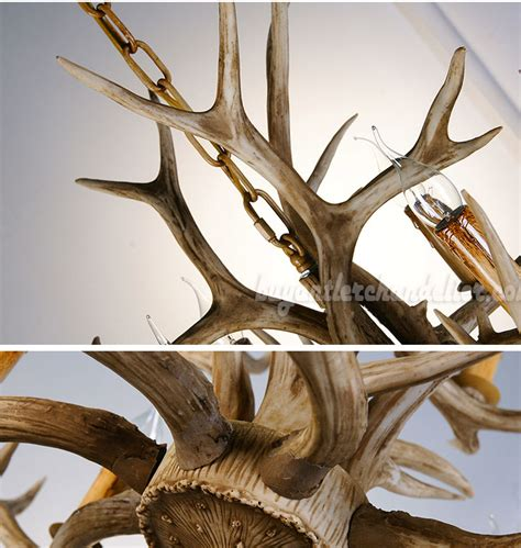 Antler Chandelier Cheap Eight Deer Antler Chandelier Color 8 Candle Style Ceiling Lights Rustic Lighting
