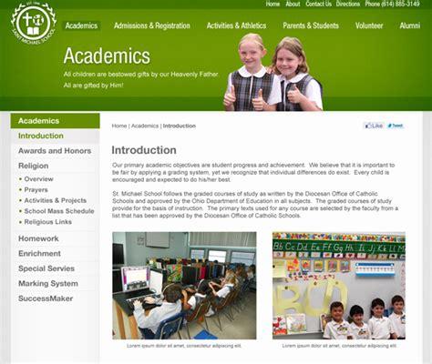 pattern school website libureau creative design studio 187 sms school website design