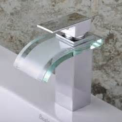One Hole Faucet Kitchen Single Handle Chrome Waterfall Bathroom Sink Faucet F